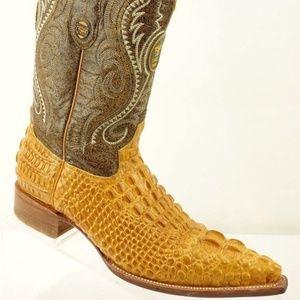 174fd65bfbc EL GENERAL Brown Hornback Alligator Skin Boots